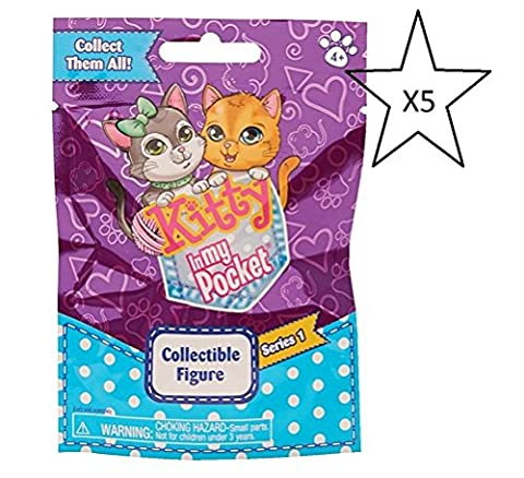 Kitty In My Pocket Collectible Figures Blind Bags - 5 Packs Supplied