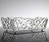 Ciotola Multiuso Decorativa Porta Frutta Porta Pane fruttiera Design Moderno in plexiglass Sakura Colore Trasparente