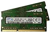 Samsung 8GB kit ( 2 x 4GB ), 204-pin SODIMM, DDR3 PC3L-12800, 1600MHz ram memory module ( M471B5173EB0-YK0 x 2 )