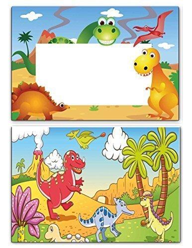 Niños Cumpleaños dinosaurios invitaciones invitaciones Cumpleaños invitaciones–10Unidades