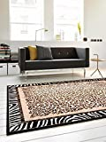 benuta Teppiche: Moderner Designer Teppich Out of Africa Braun 80x150 cm - GuT-Siegel - 100% Polypropylen - Tierfell - Maschinengewebt - Wohnzimmer