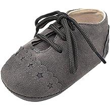 K-youth® Zapatos de Bebé, Primeros Pasos Para Niño Zapatillas de Bebé Antideslizante de Encaje Hasta Zapatos 0-18 Mes