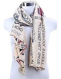 Flagge Schal mit modern Design 100 x 180 Halstuch Vintage Design USA UK Flaggen Muster Schal, Unisex