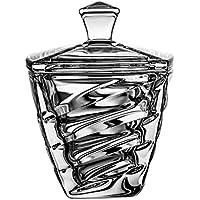 Idea de Regalo para Mujeres y Hombres Tarro para Bombones con Tapa Casa Vivente Recipiente de Vidrio para Golosinas Decoraci/ón para Cocina Bombonera