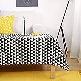 Baumwoll-Top-Tisch, Coverproof Cover Nordic Home einfache und Moderne Tischdekoration Waschbarer Tischbezug-B-140x220Cm(55x87