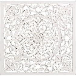 Lola Derek - Mural de pared romántico blanco de madera para salón Fantasy