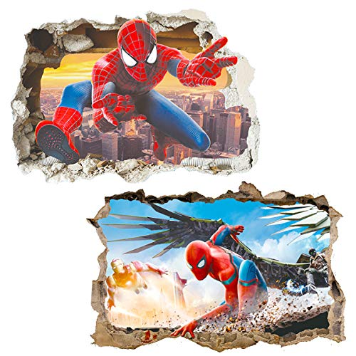 Polly Online 2PCS Spiderman-Plakat Spiderman Wandaufkleber Spiderman Wandtattoo -