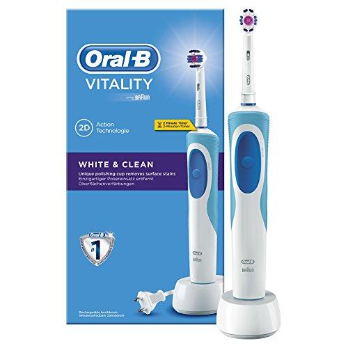 Braun Oral-B Vitality White and Clean elektrische Zahnbürste (mit Timer)