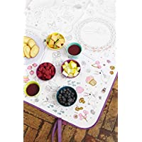 Garden Colour In Picnic Blanket in Bag with Washable Pens Waterproof Backing Water-resistant Outdoor Blanket, Beach Mat, Foldable and Portable 145 x 145cm