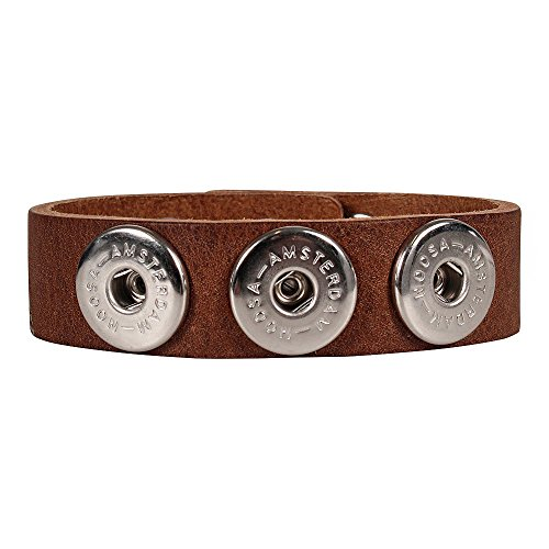 Noosa Armband classic skinny mid brown ohne Chunks, Größe:S