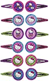 Adorable Hello Kitty Rainbow? Glitter Hair Clip Birthday Party Favours , Multi Color, 1 x 2. by TradeMart Inc.
