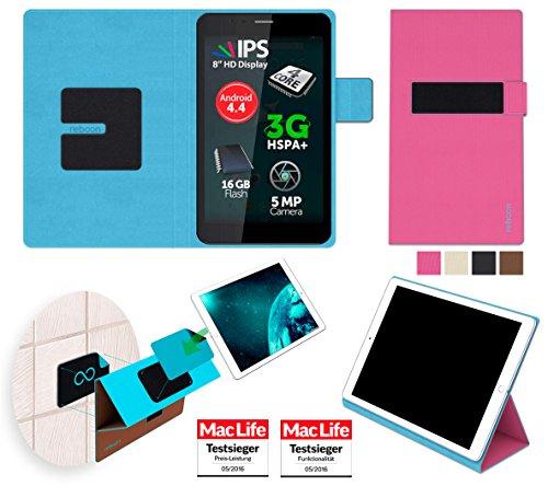 reboon Allview Viva H8 Plus Hülle Tasche Cover Case Bumper | Pink | Testsieger