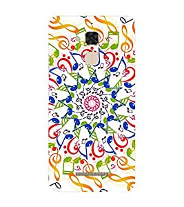 Fiobs Designer Back Case Cover for Asus Zenfone 3 Max ZC520TL (5.2 Inches) (Music Sangeet Sur Sound Life)
