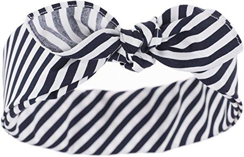 Küstenluder Damen Haarband Karon Streifen Vintage Bandana Mehrfarbig 53cm x 53cm (Pin-up Bandana)
