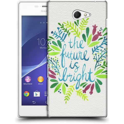 Official Cat Coquillette Future is Bright Multi Quotes Typography 1 Hard Back Case for Sony Xperia