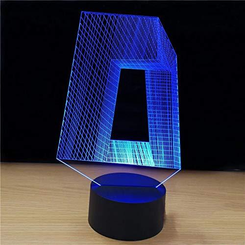 3D Nachtlicht 3D Led Tv Gebäude Styling Nachtlicht Usb Touch-Taste Tischlampe Kinder Schlafzimmer Schlaf Lampen Dekoration