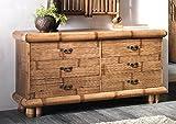 Bambus Kommode Tabanan Honig Antik Sideboard Bambusmöbel Konsole Möbel aus Bambus