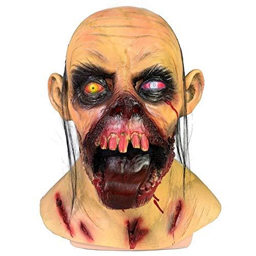 WEYQ Halloween Thriller Maske Walking für Halloween Horror Vampire Scared Ghost Dekorationen Cosplay Gesicht Crazy Clown Kostüme Creepy Funny Erwachsene Scar - Für Erwachsene Ghost Gesicht Kostüm