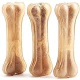 12 Pcs Hueso Prensado para Perros Piel Vacuno Fortalecedor de Dientes Stick Dental Dog Snack 14 cm (12 Pcs) BPS-5000*12