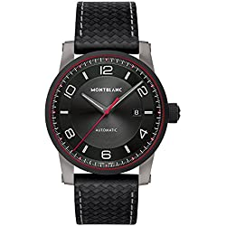 Montblanc Men's TimeWalker Urban Speed 42mm Black Leather Band Steel Case Automatic Analog Watch 115079
