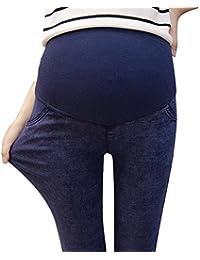 hibote Mujeres embarazadas alta elasticidad prop vientre pies con leggings de bolsillo 10-16