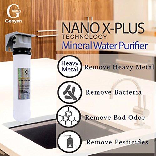 Wasserfilter Nano-1XT, einzigartige Nano X-Plus Wasserfiltrationstechnologie, SGS/NSF Qualitätssicherung, entfernt fast 100% der Verunreinigungen im Wasser, ohne die Mineralien anzugreifen -
