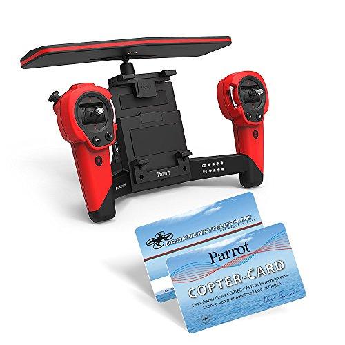 Preisvergleich Produktbild Parrot Skycontroller Rot Red für Bebop EU/US Einzel Zubehör Erweiterung inkl. Copter-Card -*A