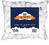 50 Party ping pong balls for decorations, pets, lottery, beer pong and more! White table tennis balls