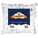 50 ping pong balls for decorations, pets, lottery, beer pong, school activities and more! White table tennis balls