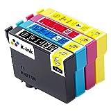 K-Tinte kompatible Tintenpatronen für Epson 16 16 XL T 1631 T 1632 T 1633 T 1634 (10er-Packung - 4 Black, 2 Cyan, 2 Magenta, 2 Gelb)