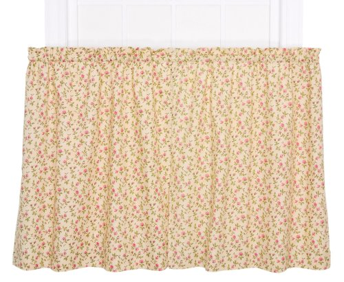 Ellis Vorhang Marcia Floral Vine Print, grün, 68 x 36 Tier -