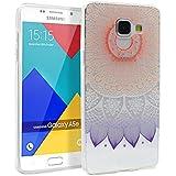 Coque pour Samsung Galaxy A5 2016, Mifine Ultra Mince Transparent [Souple et Flexible, Absorption des Chocs, Anti-rayures] TPU Silicone Soft Etui Housse Case (No.2-Pourpre)