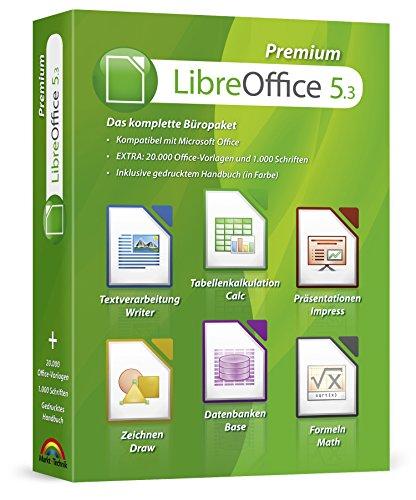Libre Office Premium Home Student Professional Edition - Inkl. gedrucktes Handbuch / 20.000 Office Vorlagen / 1.000 Schriften / 100{5043f381c3c5c1cd51dc8156a0bdc080ab37b87d84be7410d7b63ae07a61e907} Kompatibel zu Word, Excel, Powerpoint für Windows 10 8 7 Vista