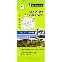 Michelin Schlösser an der Loire: Straßen- und Tourismuskarte 1:150.000 (MICHELIN Zoomkarten)