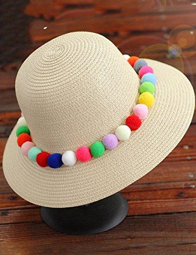 Couronne de rotin décontracté Chapeau de paille Chapeau pliable de plage de vacances Chapeau de soleil de soleil d'été féminin (deux styles peuvent choisir une variété de couleurs) ( Couleur : 9 ) 2