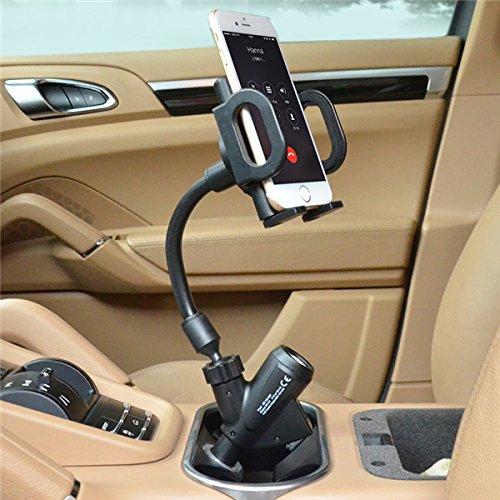 ROUHO Cobao 360° Rotazione Dual Usb Sigaro Accendino Auto Caricabatterie Telefono Supporto Per Telefono Cellulare 3.5-6 inch