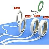 VEDA® Set von 5 Masking Tape f. Rundungen 3mm / 5mm / 8mm / 10mm Handwerkzeuge Zubehör Modellbau Hobbie