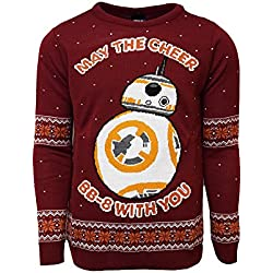 STAR WARS Official BB-8 Christmas Jumper/Ugly Sweater - (UK L/US M)