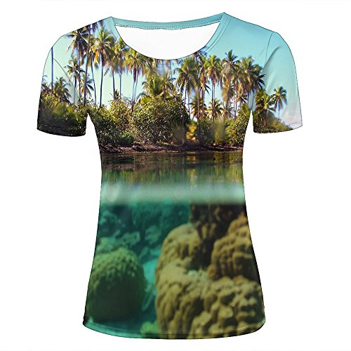Mens Womens Casual Design 3D Printed Lush Tropical vegetation Graphic Short Sleeve Couple T-Shirts Top Tee S (Lush Snake)