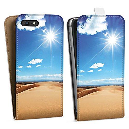 Apple iPhone X Silikon Hülle Case Schutzhülle Wüste Sand Sonne Downflip Tasche weiß