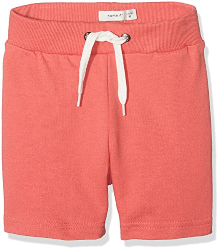 NAME IT Baby-Jungen Shorts NMMVERMOND UNB SWE Long E, Grau Spiced Coral, 98