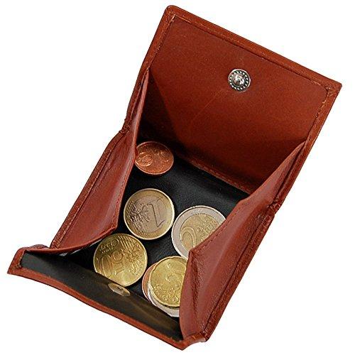 Branco Wiener Schachtel Münzbox Geldbörse Münzbörse Geldbeutel Leder Coin Box GoBago (Schwarz) Blau