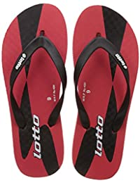 Lotto Men's Red/Black/White Hawaii House Slippers