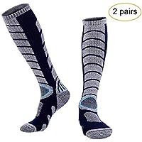 0b5ddc7cea0e3 Arcweg 2 Pares Calcetines de Esquí Deportivos Térmicos Medias de Invierno  Hombre Calcetines de Compresión Rodillas