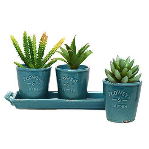 mygift-set-di-3-vasi-per-piante-grasse-e-fiori-in-stile-country-in-ceramica-turchese-con-vassoio-con