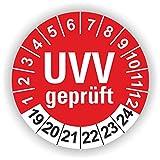 5-1.000 Stück Prüfplaketten Prüfetiketten Wartungsetiketten UVV Prüfung Ø 30mm (Rot 30 Stück)