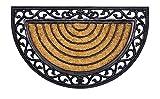 Fußmatte Kokos Halbrund mit Gummirand 45 x 75 cm Neu