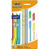 BIC 949899 Bleistift Evolution Stripes mit Radierer, HB, 4 Stück