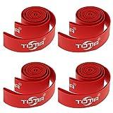 MagiDeal 4 Stück Fahrradreifen Schutz aus Nylon Rot Pannenschutz Reifen