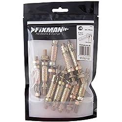Fixman 742852 Goujons à expansion pour maçonnerie Lot de 10, M8 30 x 85 mm